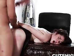 Little Boobs Cadence Carter Gives Blowjob and Fucked