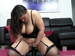GERMAN PAWG SAMANTHA RIDES THE BLACK DONG FOR THE Sly Epoch