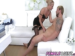 Bodybuilder Fucks Spokesman To Orgasm - James Blonder And Vinna Reed