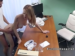 Doctor bangs busty babe chit examination