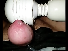 Cum on sisters panties with her vibrator while she sleeps next to me