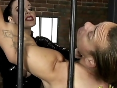 Stunning raven-haired dominatrix Anastasia Pierce enjoys having kinky beguilement with her slave