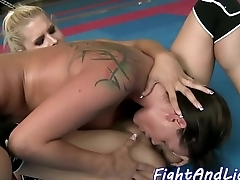 Lesbian beauties licking pussies